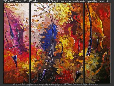 Cello Forest - home decor art