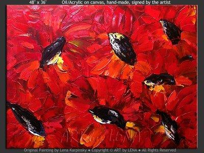 Red Garden - wall art
