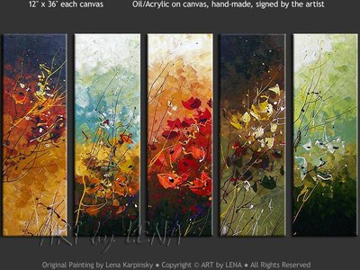 Swiss Flowers - contemporary painting