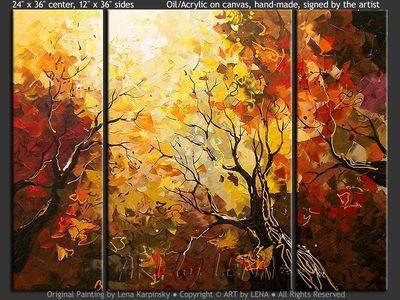 Warm Sun Skies - contemporary painting