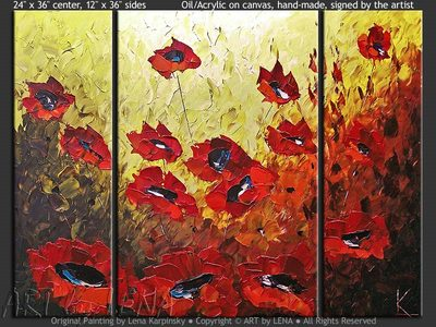 Les Coquelicots - home decor art