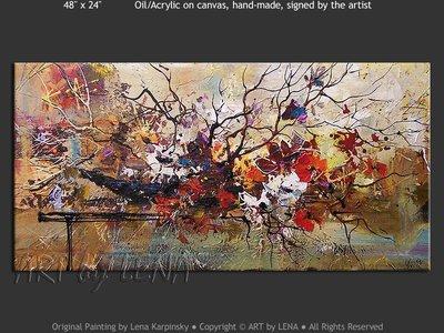 Ikebana #962 - original painting by Lena Karpinsky