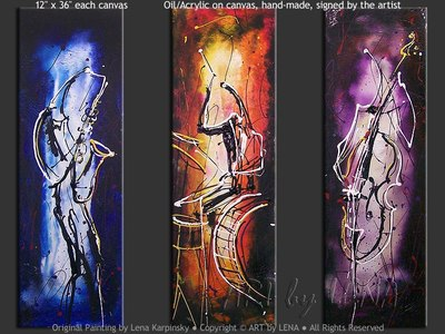 The Colors Of Swing - original canvas painting by Lena