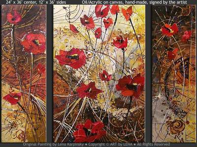 Surreal Dreams with Poppies - wall art