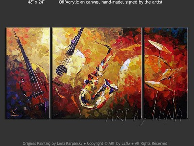 Joni's Jazz - contemporary painting
