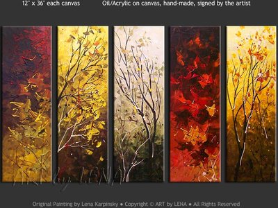 Autumn Wonders - contemporary painting