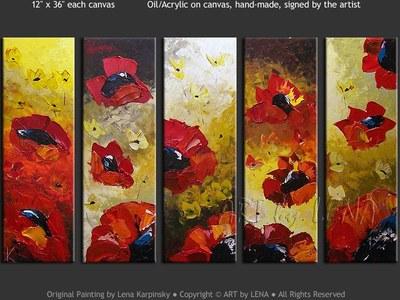 Poppy Fascination - modern artwork
