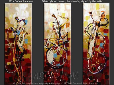 Jazz Trio - contemporary painting