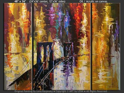 NY Lights - home decor art