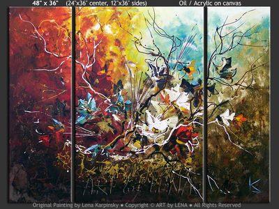 Ikebana #1017 - contemporary painting