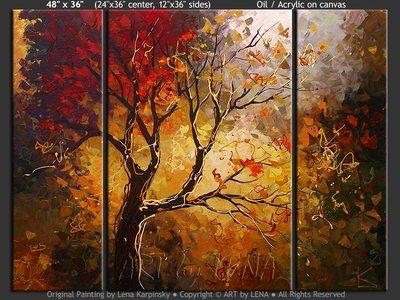 Tree of Wisdom - contemporary painting