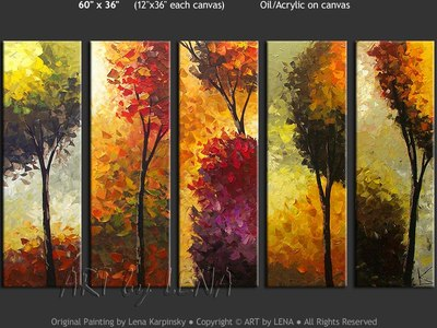 Green Trees - contemporary painting
