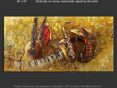 The Golden Sax - contemporary painting