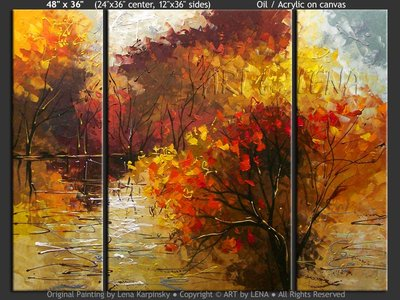 Coldwater Creek - original canvas painting by Lena