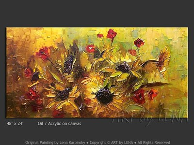 Bouquet d'Or - home decor art