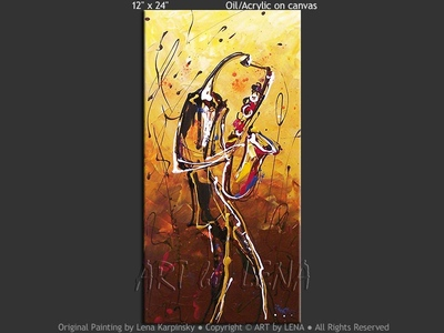 Le saxophone - contemporary painting