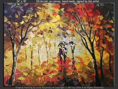 Autumn Rain Miniature - art for sale