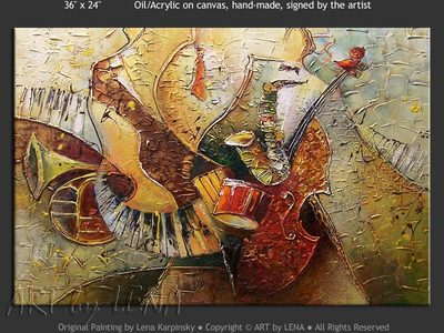 Jazz of the Sixties - contemporary painting