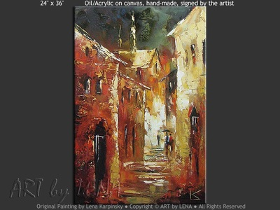Narrow Streets - contemporary painting