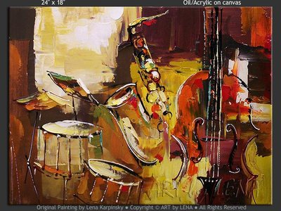 In The Mood Of Jazz - home decor art