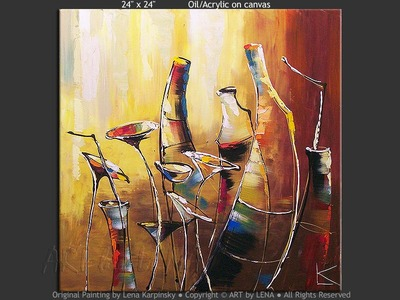 Salud! - original canvas painting by Lena