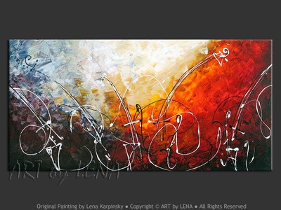 Unfinished Symphony - original canvas painting by Lena