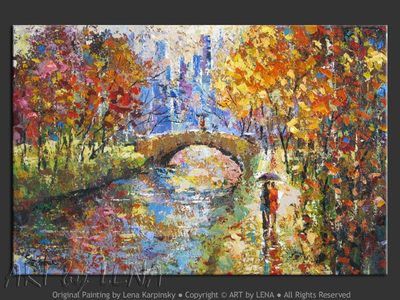Old and Modern Paris - original painting by Lena Karpinsky