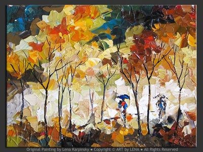 Autumn Sketch - contemporary painting