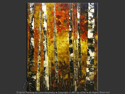 Birch Grove - modern artwork