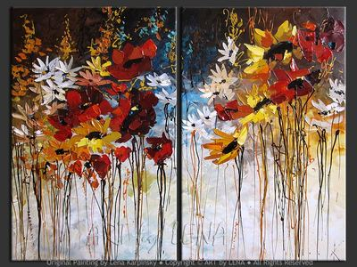 Semiramis diptych - contemporary painting