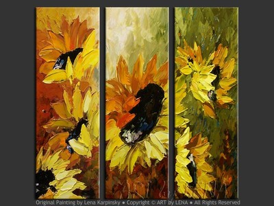 Les Tournesols - home decor art