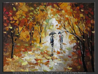 Rain Walk - contemporary painting