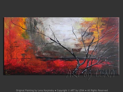 Red Nightfall - home decor art