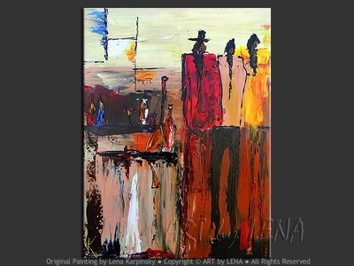 A Very Hot Day - original painting by Lena Karpinsky