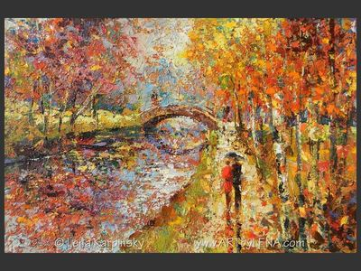 Golden Fall Park - home decor art