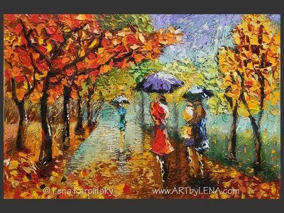 Rainy Alley - contemporary painting