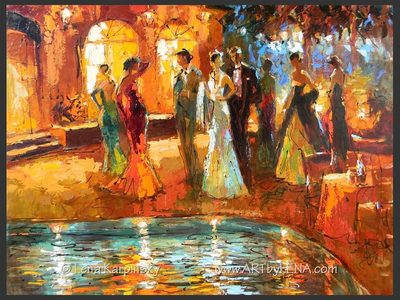 Summer Evening – 6 - contemporary painting