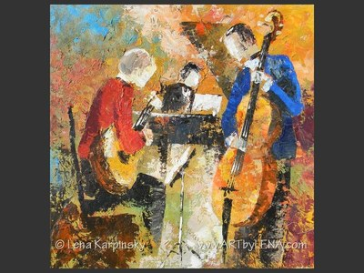 Jazz Guitar Trio - art for sale
