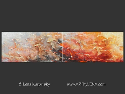 From Fire To Ice - original painting by Lena Karpinsky