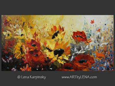Make It Like A Sunny Day - original canvas painting by Lena