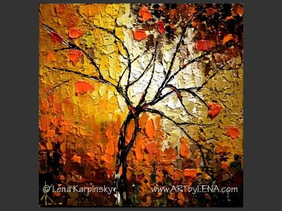 Cranberry Tree Miniature - modern artwork
