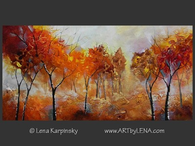 Winter Is Coming - original canvas painting by Lena