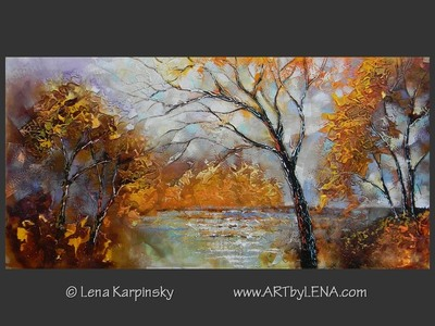 True North – 9 - original canvas painting by Lena