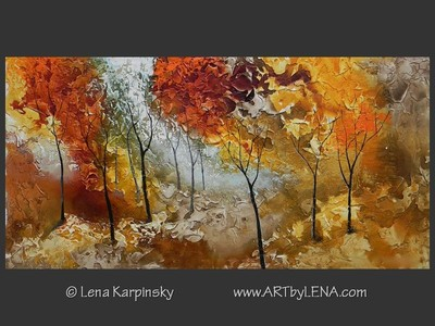 Autumn Serenade - original painting by Lena Karpinsky