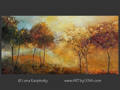 When Gold Turns To Blue - original painting by Lena Karpinsky